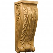 Hand Carved Acanthus Large