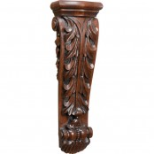 Hand Carved Acanthus Tall