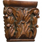 Hand Carved Acanthus Capital