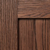 Weathered Grain - Honey with Sable on Red Oak