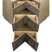Base Corner Pie Cut 3 Drawer Cabinet