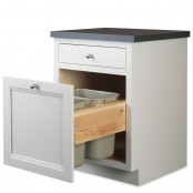 Preconfigured Trash Can Pull-Out Cabinet