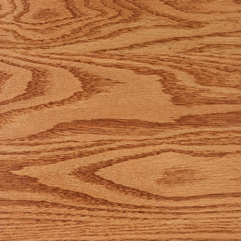 Harvest gold stain on red oak