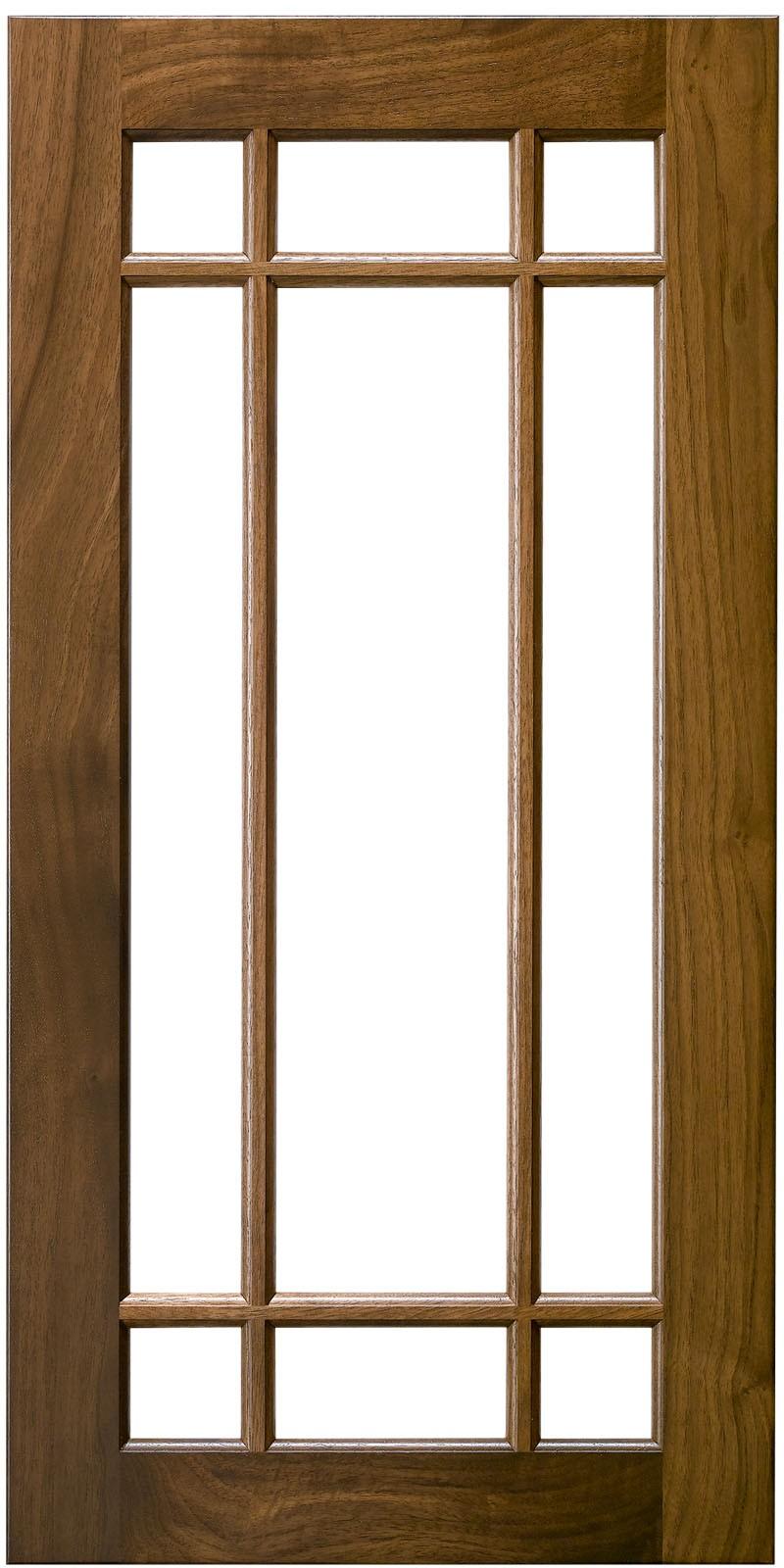 9 Lite Offset Mullion Doors Construction Cabinet