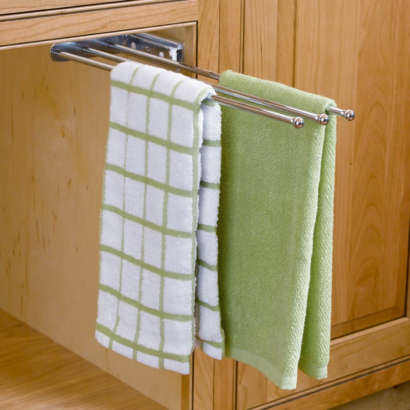 Pull-Out Towel Bar on under the sink slide out towel rack, under cabinet towel holder, counter towel rack, kitchen cabinet door towel rack, kitchen sink cabinet towel rack, undercounter towel rack, under cabinet slide out pot rack,