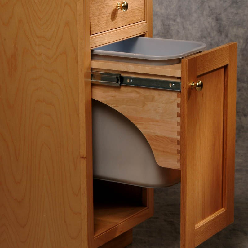trash can pull out. Black Bedroom Furniture Sets. Home Design Ideas