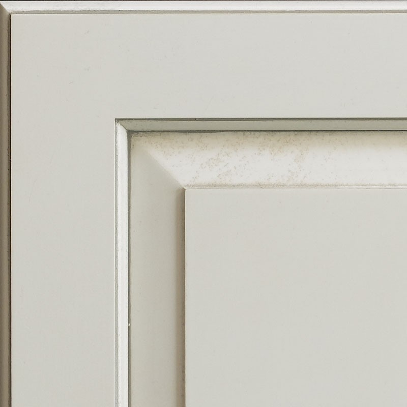 Unitone Finish - Designer White with Pewter on Hard Maple