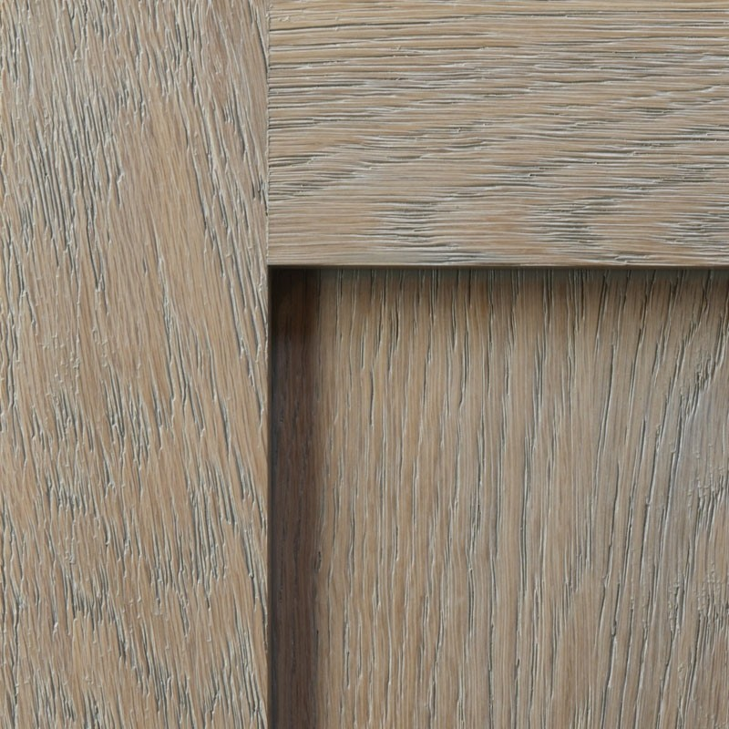 Weathered Grain Alpine with Pewter on White Oak