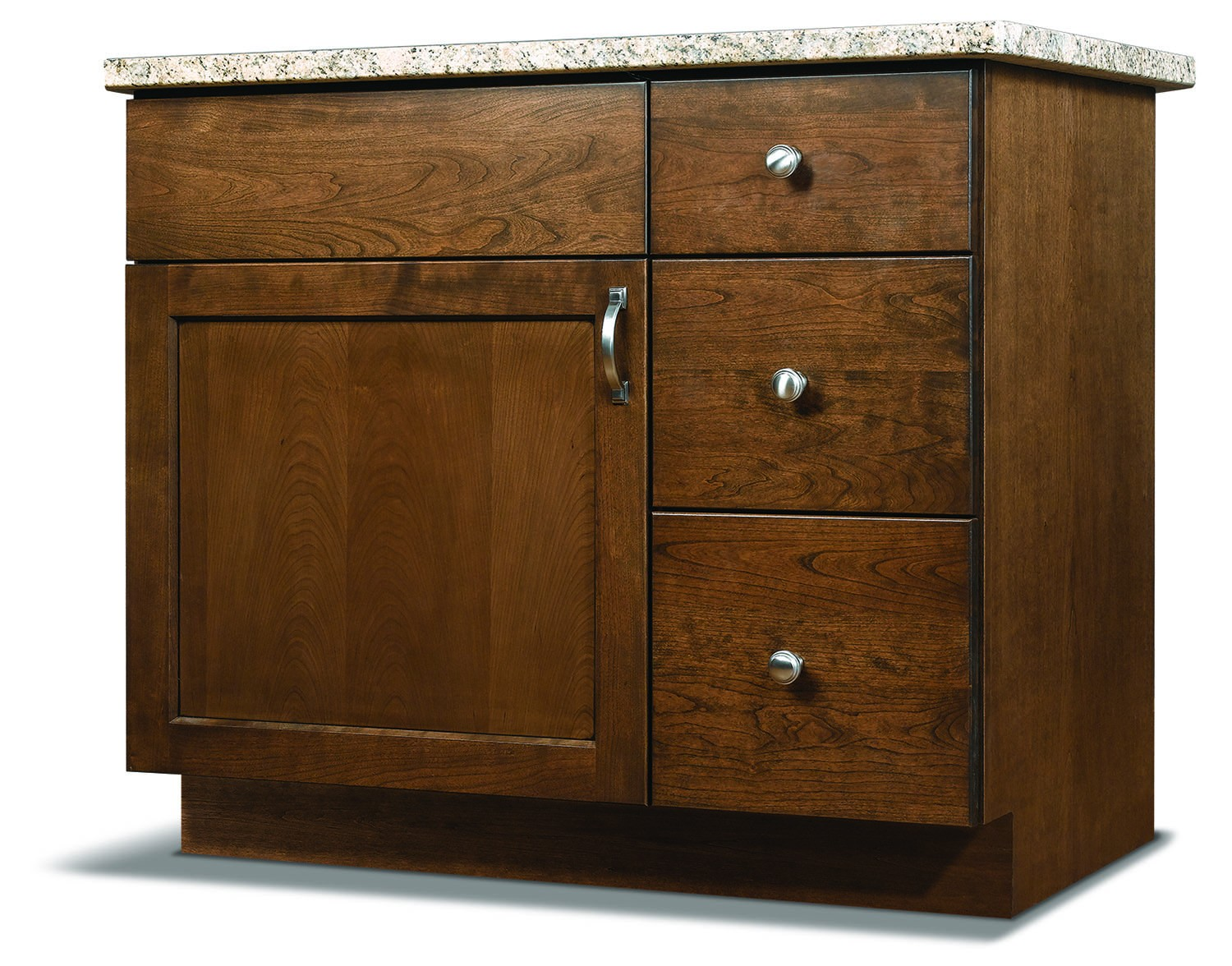 Three Drawer Vanity (Right) available in Advantage and Essence lines.