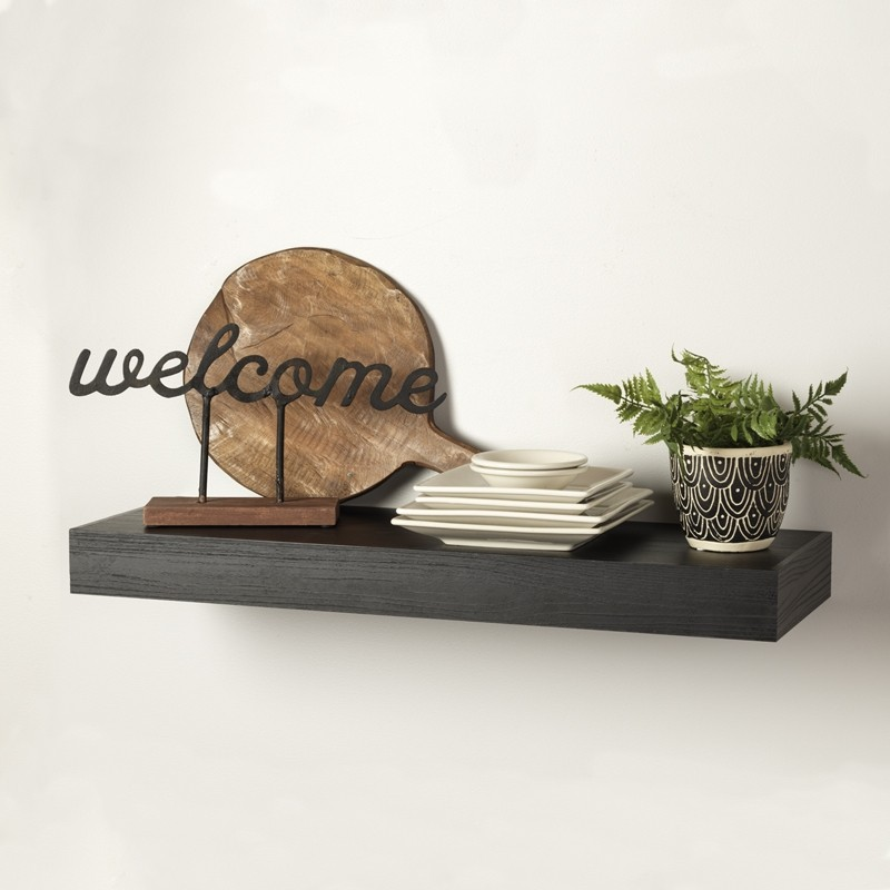 Intrigue Floating Shelf in Inkwell