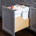 Bottom Mount Double Waste Container