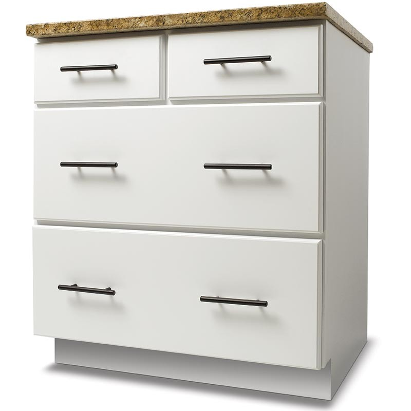 Four drawer base advantage rta cabinets products for Advantage kitchen cabinets